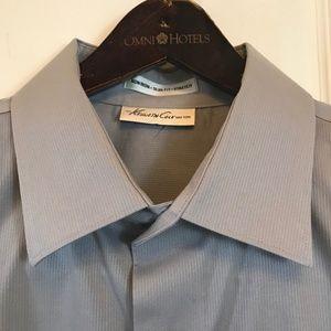 Kenneth Cole Slate No Iron Slim Fit Dress Shirt